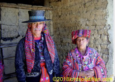Indigenous alcalde of Sololá and wife in ceremonial garb for Day of the Kings, January 6th.