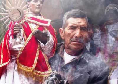 The feast day of Patzún's principal patron saint, San Bernardino is May 20th. However, Patzún has three patron saints. May 20th, they honor San Venancio, pictured in the background. On May 19th, they celebrate San Pascual, shown in the foreground..
