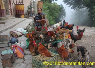 Chicken vendor in Joyabaj, El  Quiché. However, I didn´t take this photograph market day but in the fair of Joyabal, August 15th.