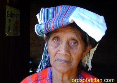 Woman with servilleta on head in ,San Marcos la Laguna
