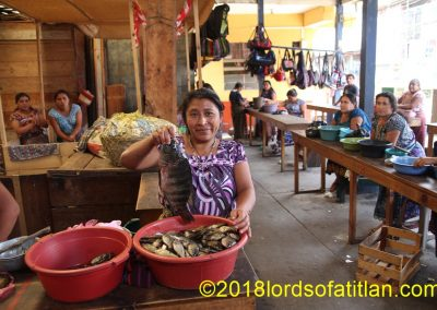 In San Pedro la Laguna, no one sells fish from the Coast. However, Lake Atitlán provides a home-grown variety.