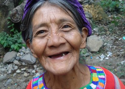 Life is difficult, but this woman smiles through her tears in San Marcos la Laguna. in                                                   San Marcos la Laguna