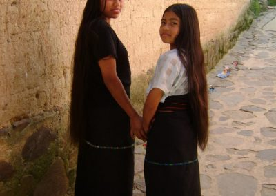 Sisters from Santa Cruz la Laguna.