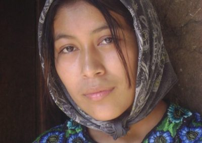 Although she looks like a gypsy, María is from Jaibalito, Santa Cruz la Laguna