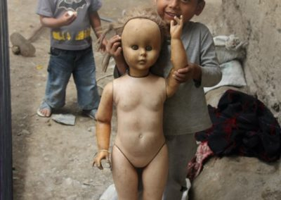 There are two boys but only one girl in Naranjales, Colotenango, Huehuetenango