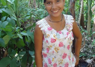 This young woman from San Andrés Villaseca Retalhuleu grew up in the cane fields in a rural area and therefore cannot read or write.