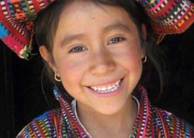Girl with tzute, Patzutzún
