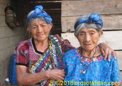 These sisters Jesusa and Juana Choac lived in Colonia Pampojilá, San Lucas Tolimán but are now deceased.