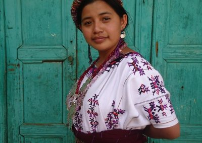 Juana Ofelia represented San Gaspar Chajul, El Quiché and therefore speaks k'iche'. She was first finalist in the election of  Flor Nacional del Pueblo Maya in Xela 2010. However, she may have been the victim of fraud.