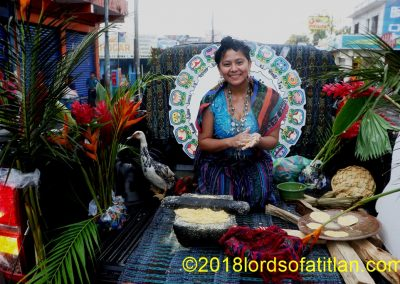 She is the  Cacao Flower of San Antonio Sucitepéquez and so speaks k'iche'. However, many young Maya of the Coast no longer understand native idiom.
