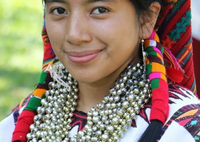 This indigenous queen is from Santo Tomás Chiché, El  Quiché and therefore speaks k'iche'.