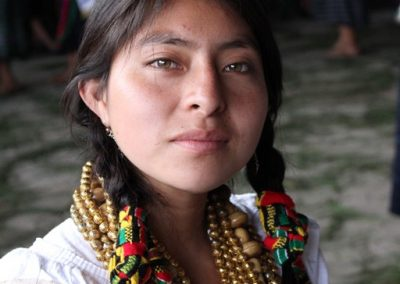 This indigenous queen is from San Antonio Ilotenango and therefore speaks k'iche'.