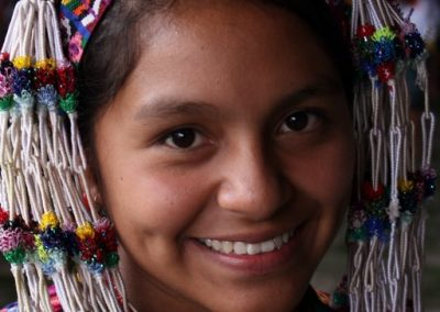She represented Sumpango Sacatepéquez and therefore speaks kaqchiquel..