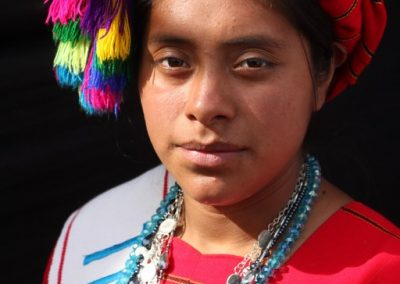 This former indigenous queen is from Huitan, Quetzaltenango and therefore speaks mam.