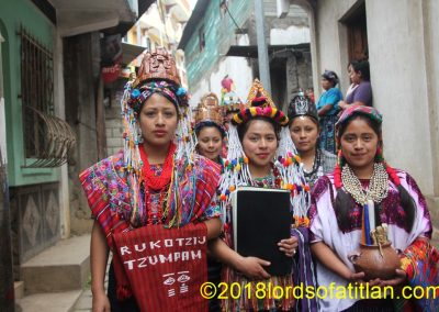This is the parade of queens in the Coronation, of Santiago Sacatepéquez.