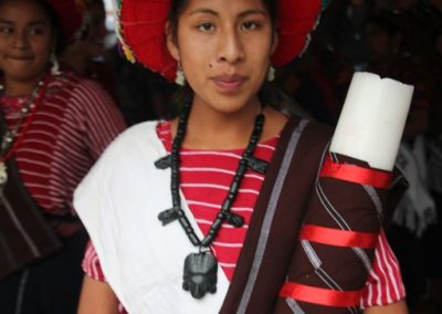 A former queen of Justo Rufino Barrios, Olintepeque, who, therefore speaks k'iche'.