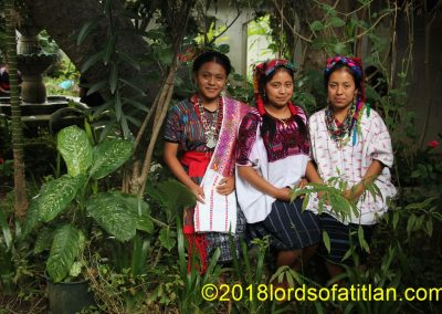 The cultural diversity of Guatemala is immense, To illustrate, in this photograph three young women represent three idioms:: achi, k'iche', and kaqchiquel. Miguel Chicáj, Baja Verapaz (Achi), Santo Tomás Chiché (k'iche'), and Santiago Sacatepéquez (kaqchiquel)