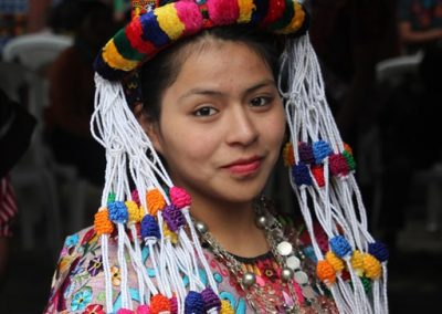 Ana Cristina was the former indigenous queen of Zunil and therefore speaks k'iche'.