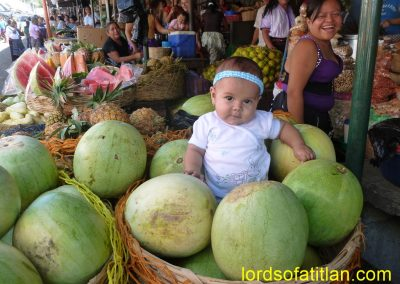 Baby with watermelon, Samayac